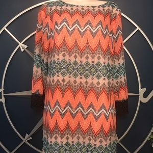 Perfect fall or career tunic dress coral